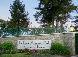 Ivy Lawn Memorial Park entrance
